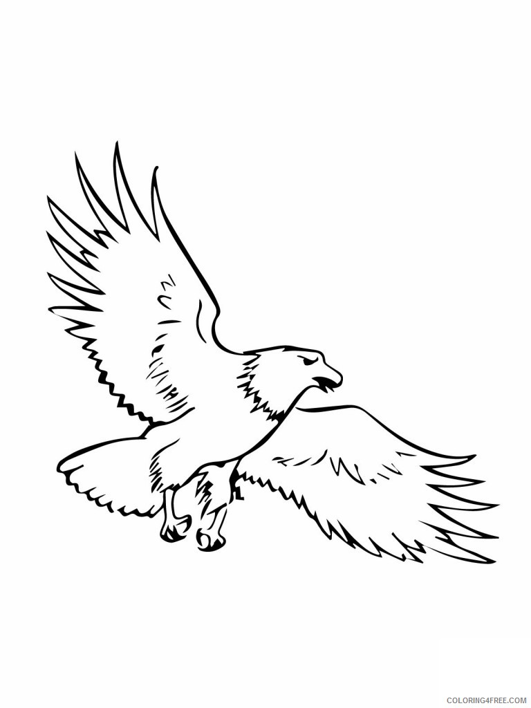 Bald Eagle Coloring Pages free printable bald eagle coloring Printable Coloring4free