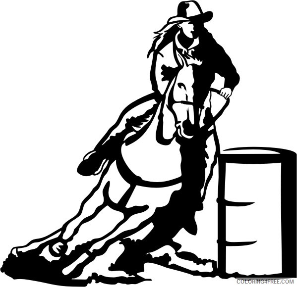 Barrel Racing Horse Coloring Pages barrel horse207 10x9 jpg Printable Coloring4free