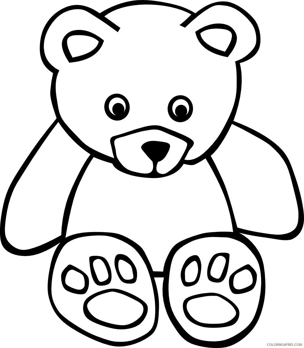 Bear Coloring Pages bear Printable Coloring4free