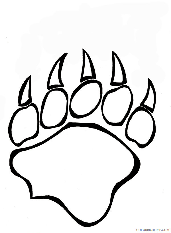 Bear Coloring Pages bear claw drawings jpg Printable Coloring4free