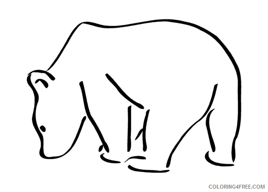 Bear Coloring Pages bear png Printable Coloring4free