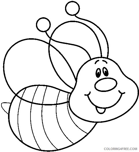 Bee Coloring Pages bee 88 jpg Printable Coloring4free