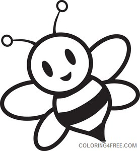 Bee Coloring Pages bee Printable Coloring4free