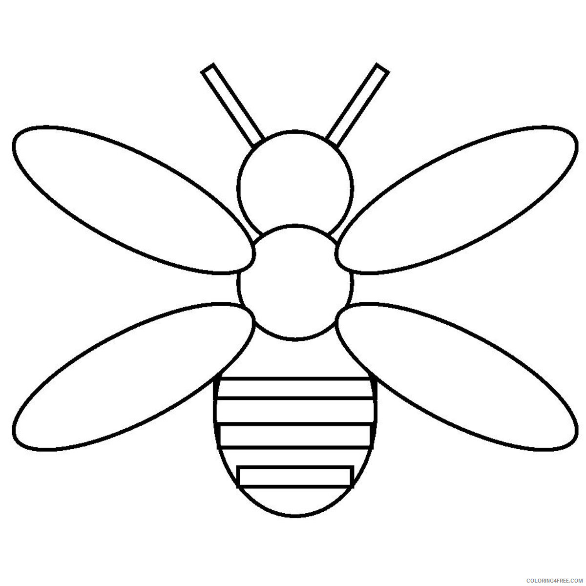 Bee Hive Coloring Pages baby bees house free bee Printable Coloring4free