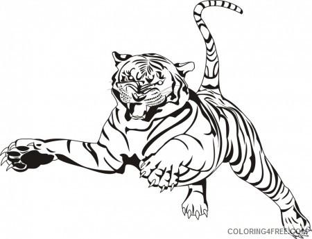 Bengal Tiger Coloring Pages bengal tiger 24 jpg Printable Coloring4free
