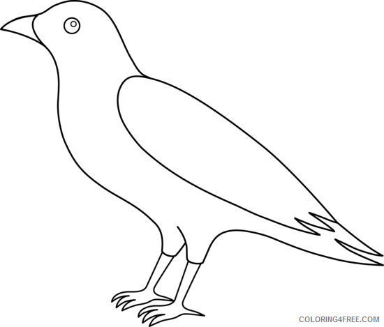 Bird Coloring Pages raven 91 png Printable Coloring4free