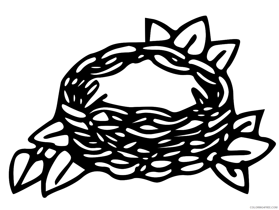 Bird Nest Coloring Pages empty bird nest Printable Coloring4free