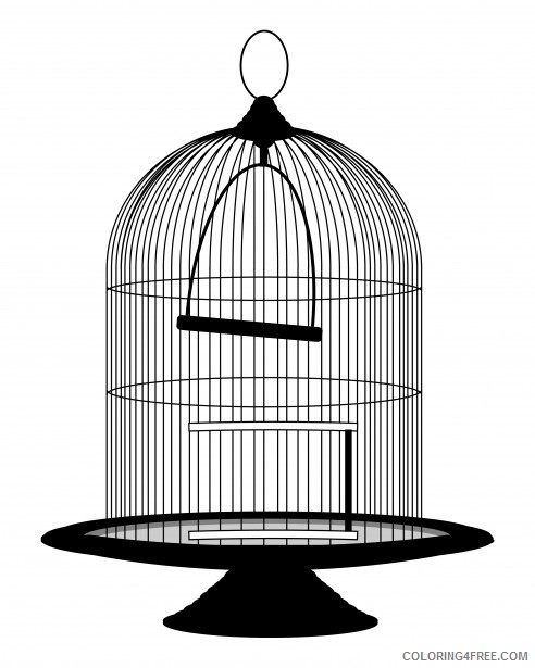 Birdcage Coloring Pages artikel terkait bird cage clipart Printable Coloring4free