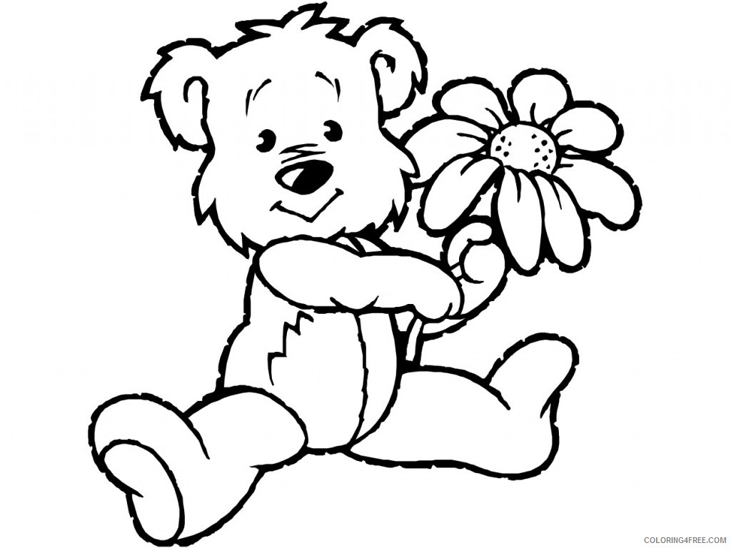 Black Bear Coloring Pages Black bear fourcoloringpages Printable Coloring4free