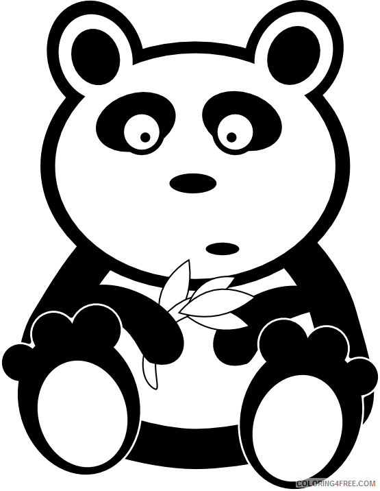 Black and White Animals Coloring Pages animal Printable Coloring4free