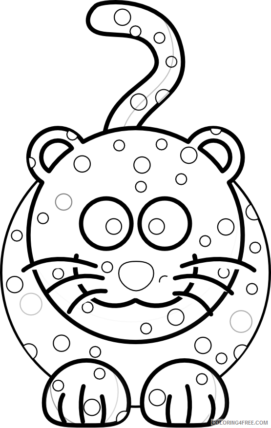 Black and White Animals Coloring Pages onca preta black white line Printable Coloring4free
