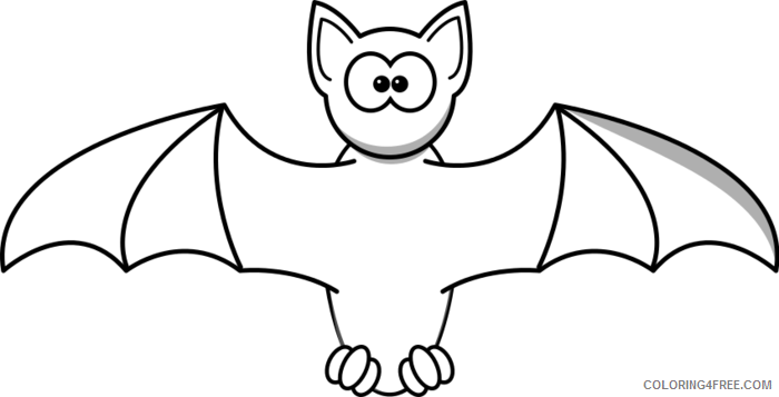 Black and White Bats Coloring Pages bat Printable Coloring4free