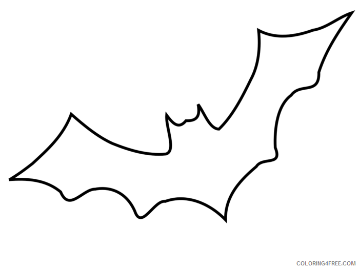 Black and White Bats Coloring Pages bat outline best lggpLc Printable Coloring4free