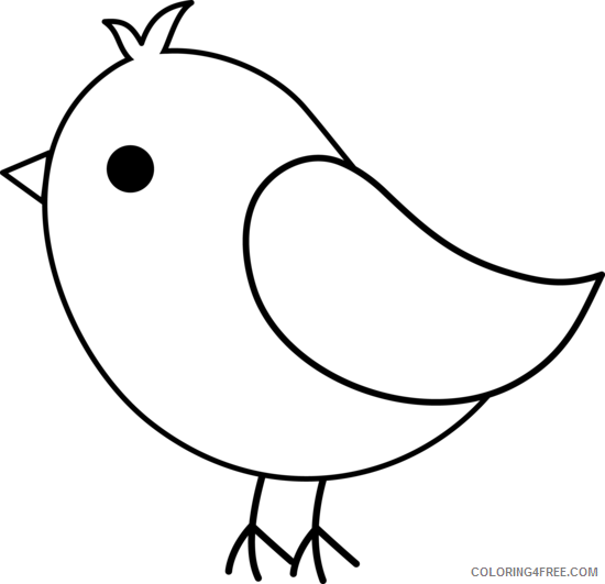 Black and White Bird Coloring Pages bird Printable Coloring4free