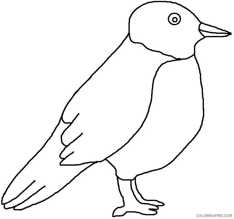 Black and White Bird Coloring Pages bird clip Printable Coloring4free