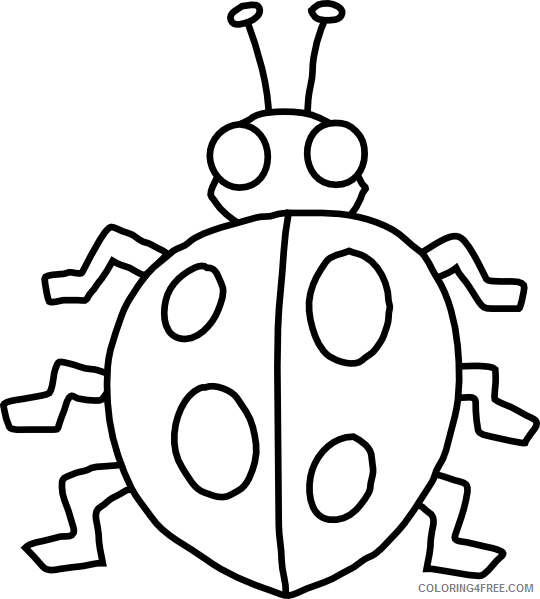 Black and White Bug Coloring Pages 12 bug template printable free Printable Coloring4free