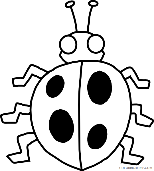 Black and White Bug Coloring Pages bug 89 png Printable Coloring4free