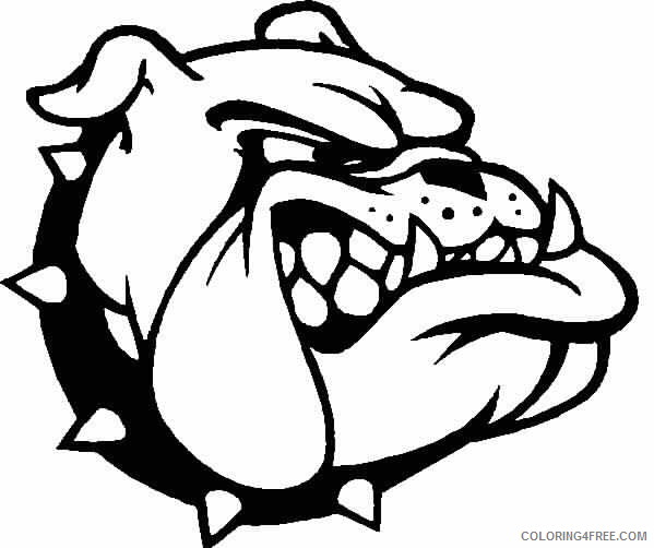 Black And White Bulldog Coloring Pages BULLDOG Jpg Printable Coloring4free  - Coloring4Free.com