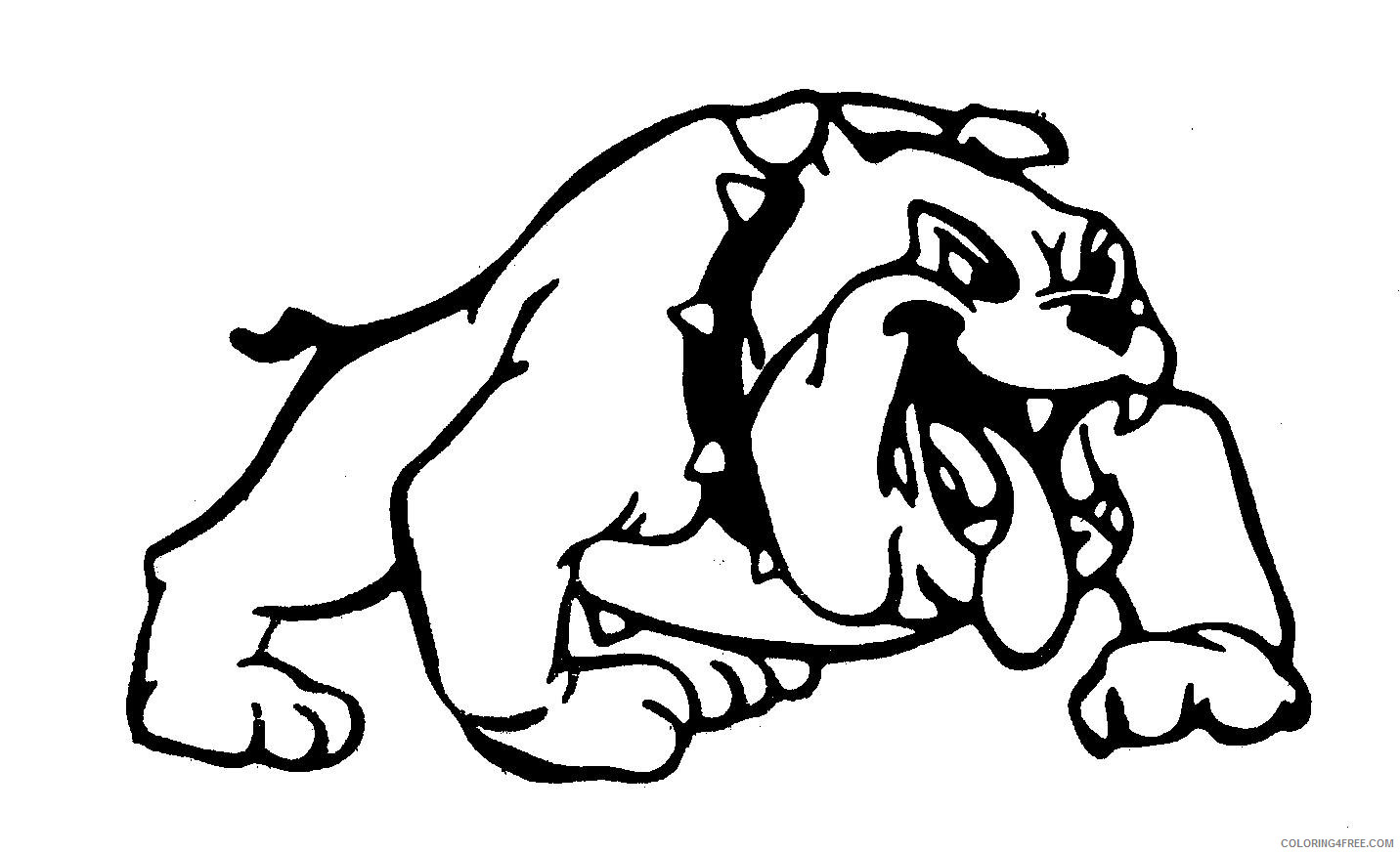 - Black And White Bulldog Coloring Pages Bulldog 5 Jpg Printable