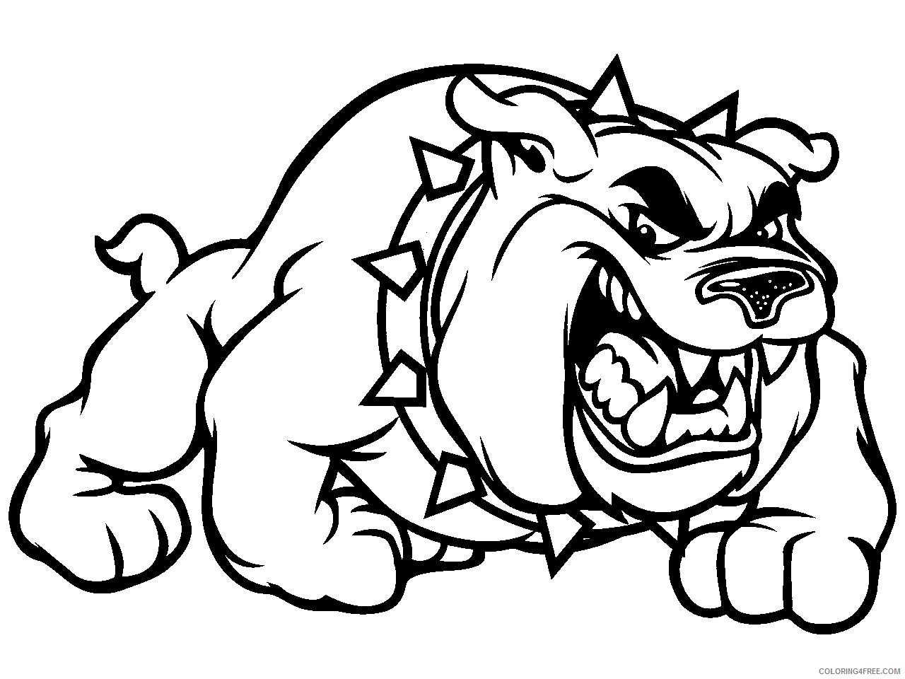 Black and White Bulldog Coloring Pages bulldog drawing jpg Printable Coloring4free