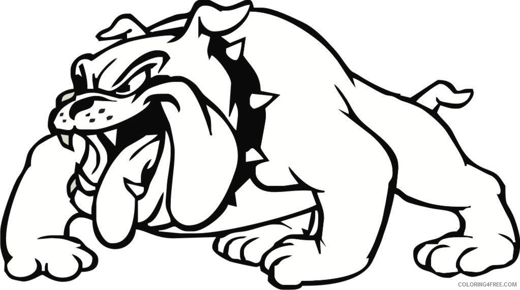 Black And White Bulldog Coloring Pages Free Bulldog Pictures Printable  Coloring4free - Coloring4Free.com
