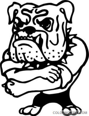 Black and White Bulldog Coloring Pages muscular bulldog tough guy koozie Printable Coloring4free