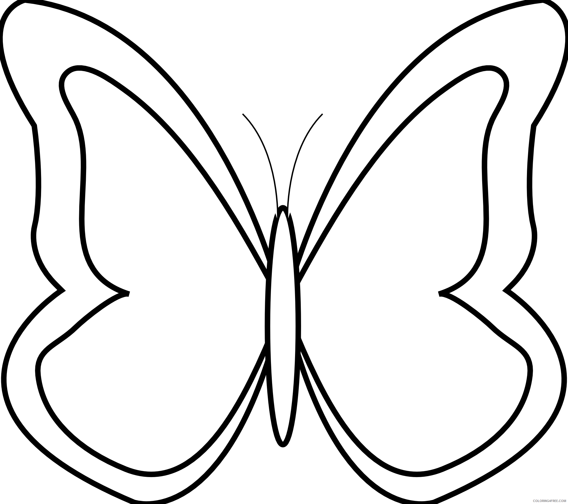 Black and White Butterfly Coloring Pages butterfly 133 png Printable Coloring4free