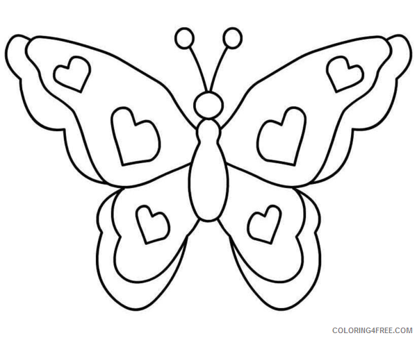 Black and White Butterfly Coloring Pages butterfly picture Printable Coloring4free