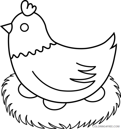 Black and White Chicken Coloring Pages chicken 34 png Printable Coloring4free
