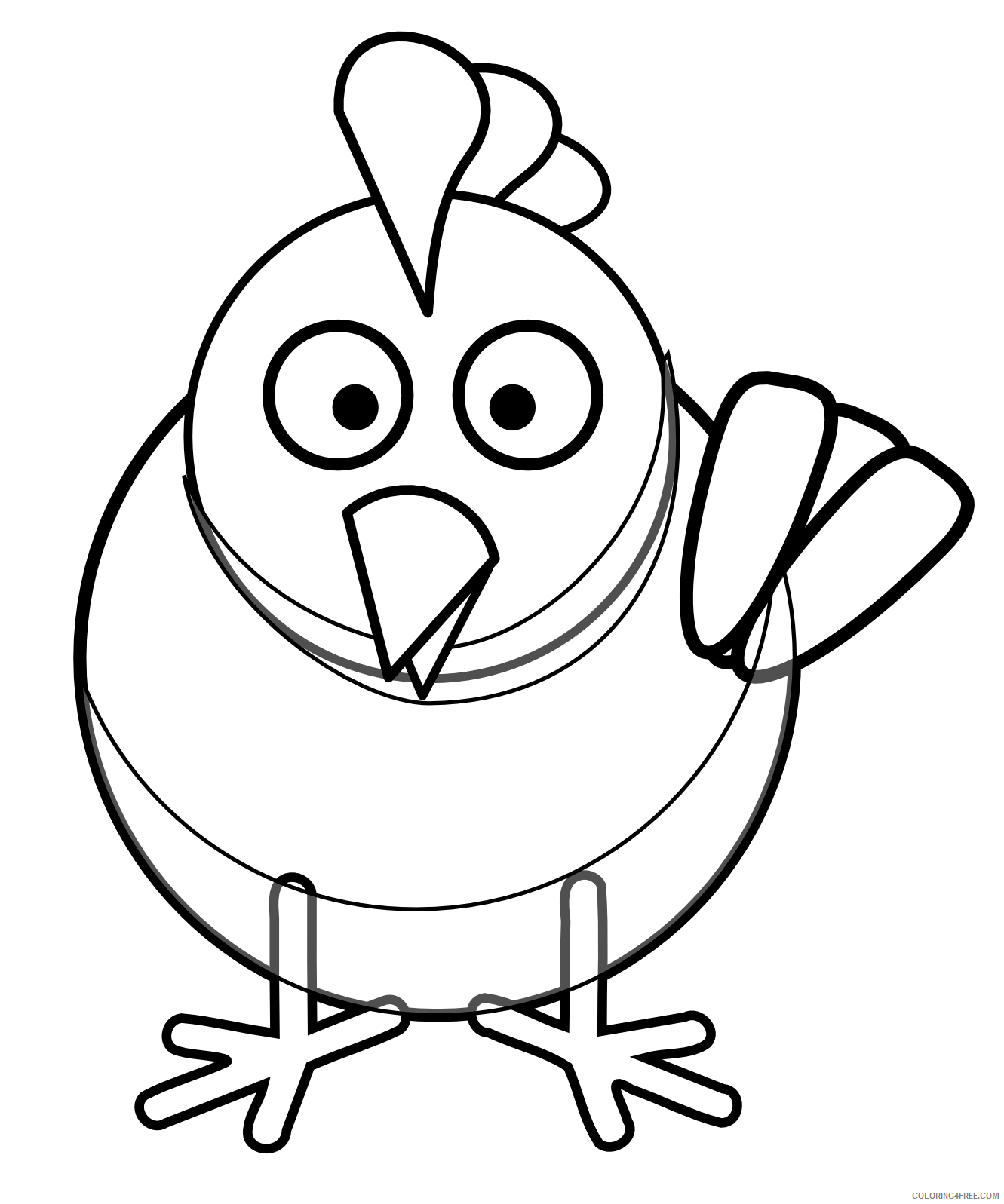 Black and White Chicken Coloring Pages chicken egg bfree Printable Coloring4free