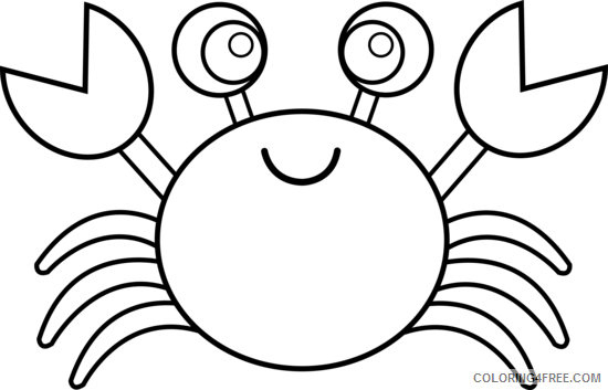 Black and White Crab Coloring Pages crab Printable Coloring4free