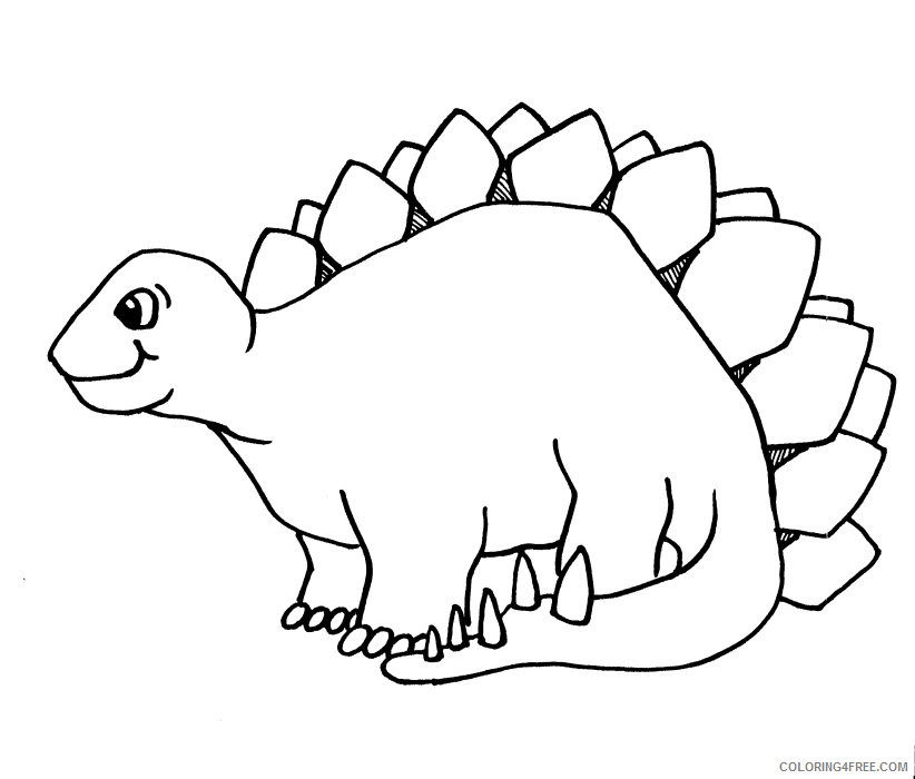 Black and White Dinosaur Coloring Pages dinosaur free printable Printable Coloring4free
