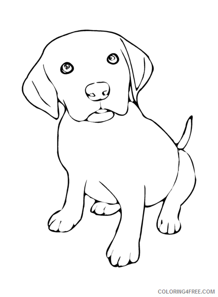 Black and White Dog Coloring Pages MeNext Puppy Printable Coloring4free