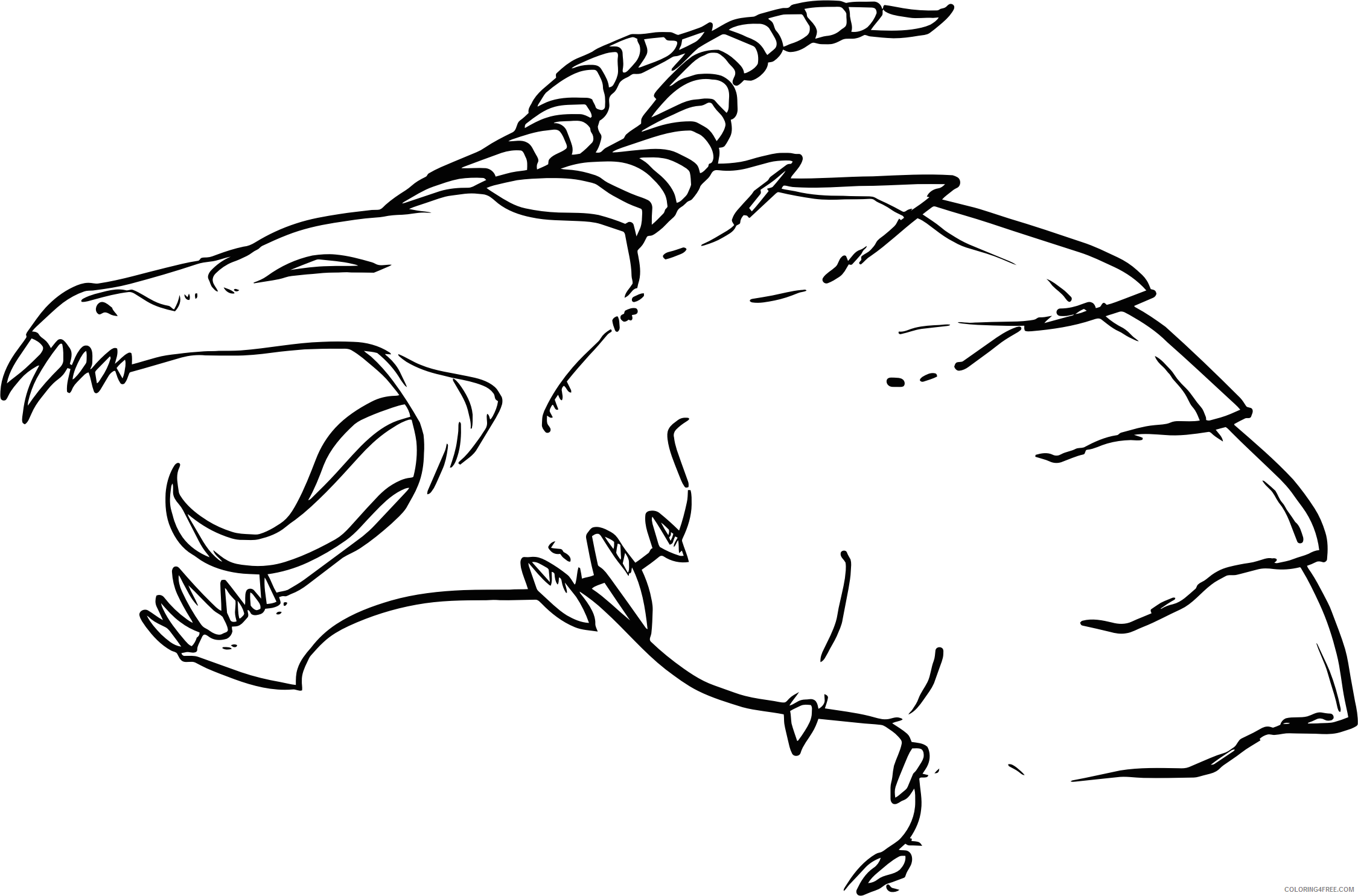 Black and White Dragon Coloring Pages dragon line art bpng Printable Coloring4free