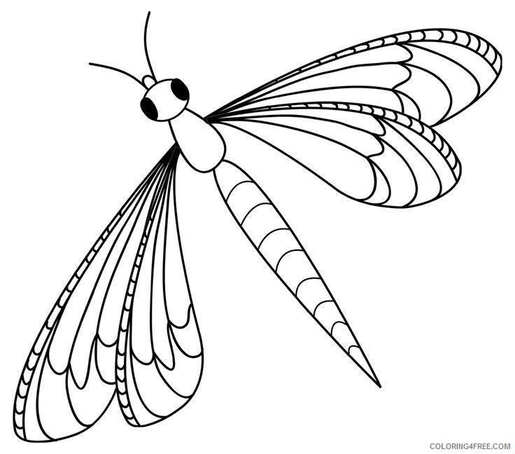 Black and White Dragonfly Coloring Pages dragonfly stock images Printable Coloring4free
