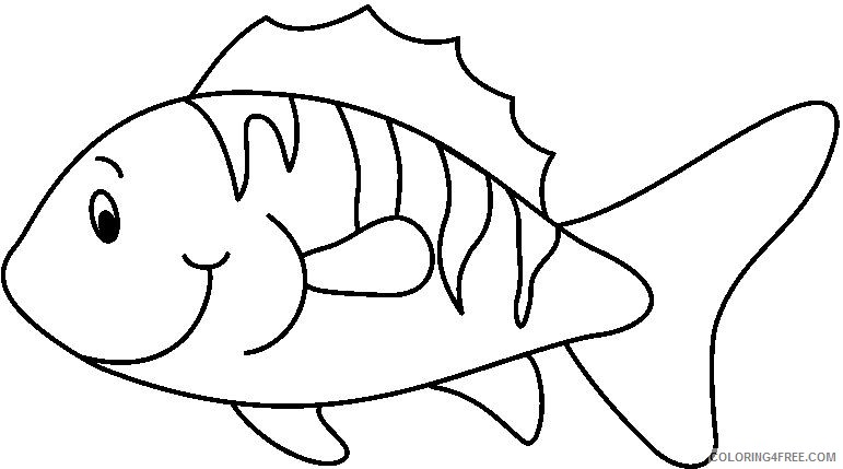 Black and White Fish Coloring Pages fish7 bw thumb para imprimir Printable Coloring4free