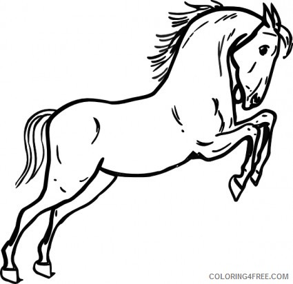 Black and White Horse Coloring Pages horse 16 jpg Printable Coloring4free