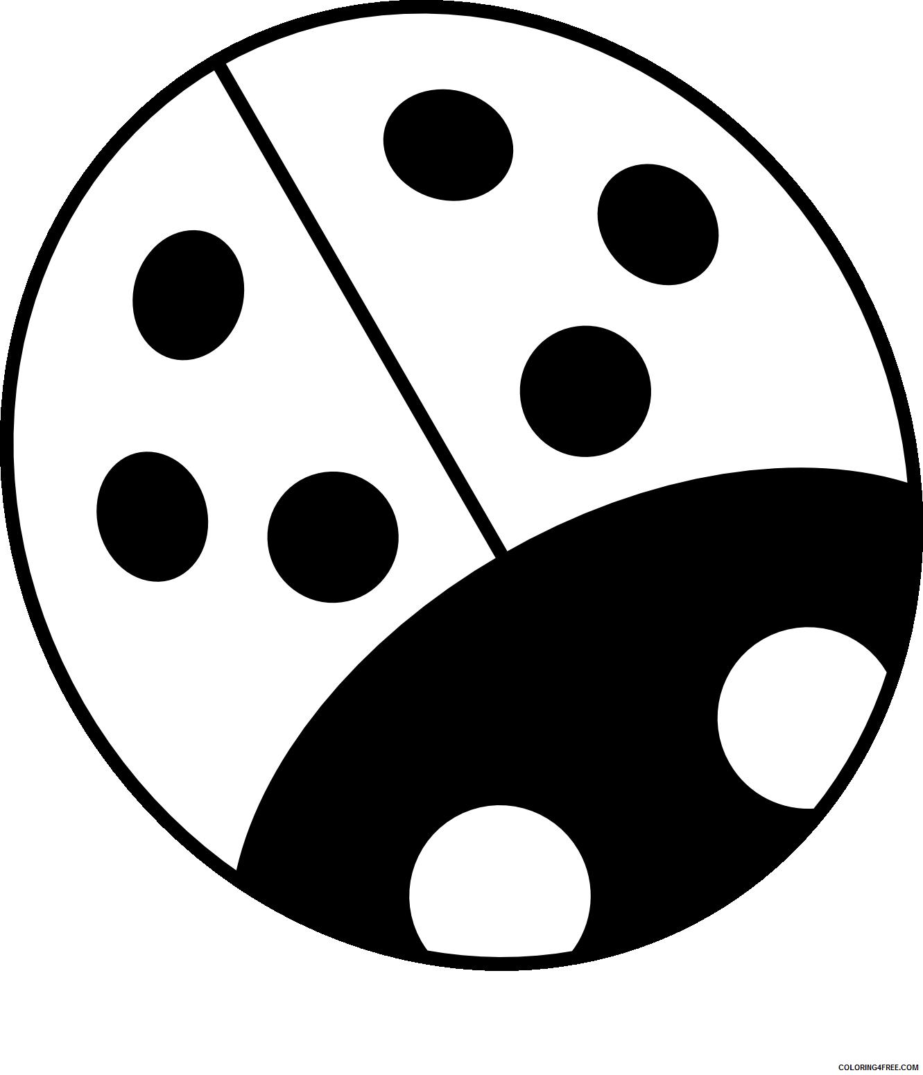 Black and White Ladybug Coloring Pages ladybug Printable Coloring4free