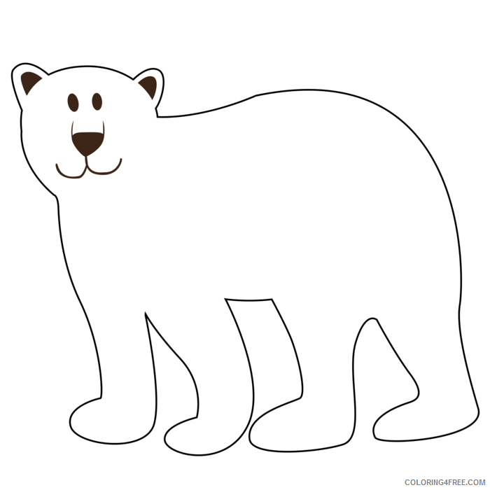 Brown Bear Coloring Pages brown bear black and Printable Coloring4free