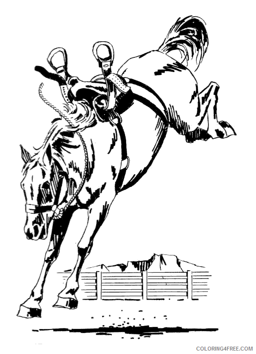 Bucking Horse Coloring Pages bucking horse 2 http www Printable Coloring4free