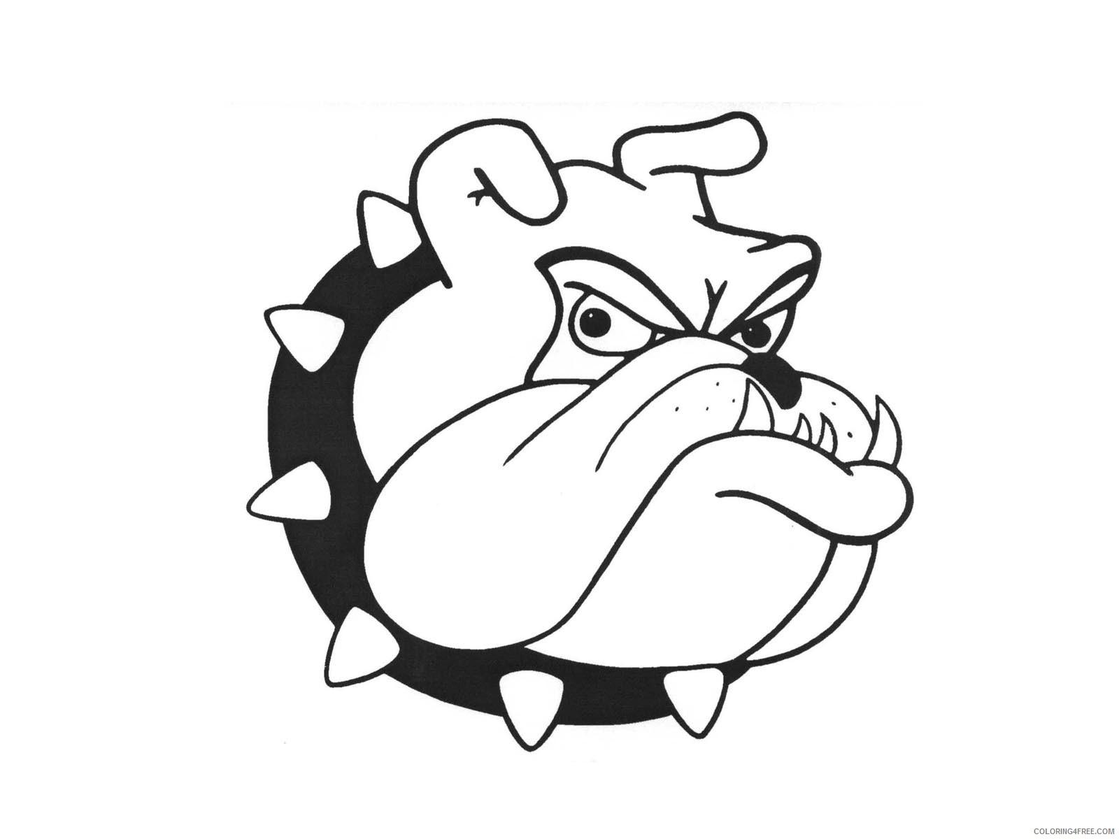 Bulldog Cartoon Coloring Pages 14 Cartoon Bulldog Images Free Printable Coloring4free Coloring4free Com