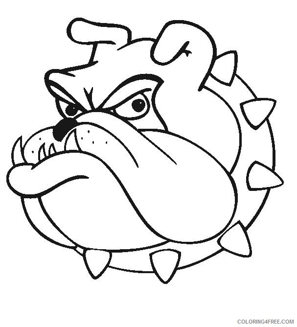 Bulldog Cartoon Coloring Pages Cartoon Bulldog Images Dt3mpb Clipart Printable Coloring4free Coloring4free Com