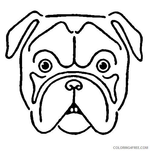 Bulldog Face Coloring Pages bulldog face drawing avintage kids Printable Coloring4free