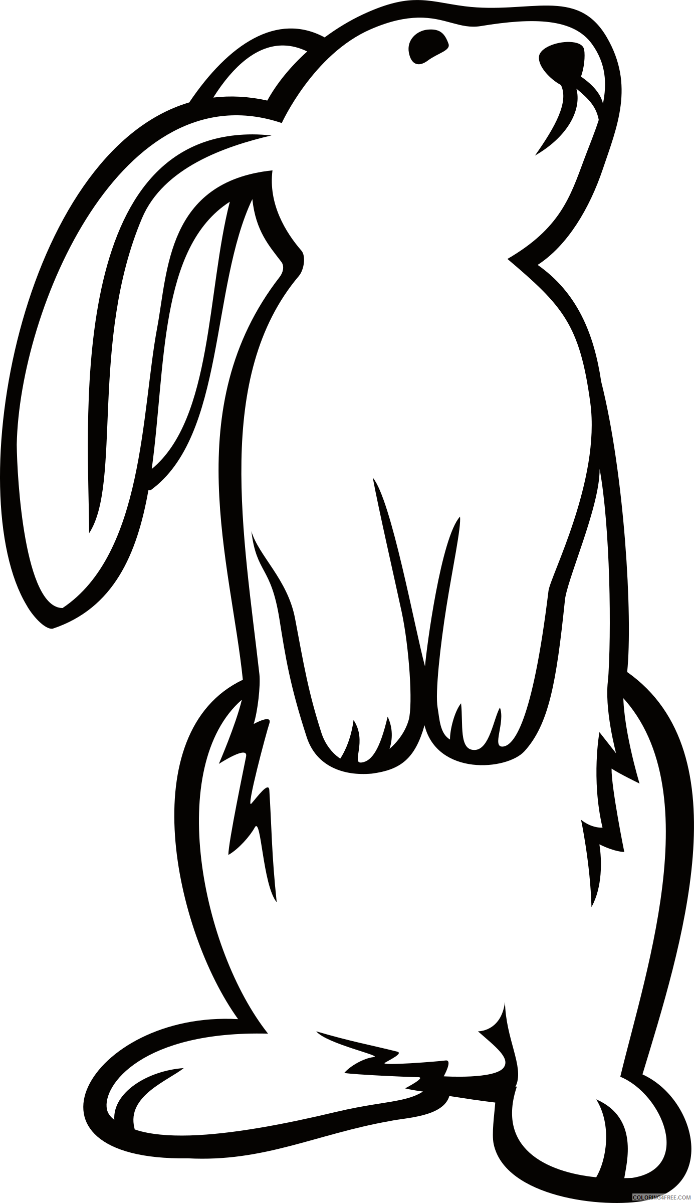 Bunny Outline Coloring Pages bunny 2 2 bpng Printable Coloring4free