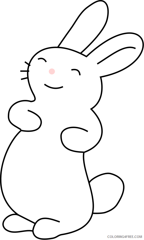Bunny Outline Coloring Pages bunny9 png Printable Coloring4free