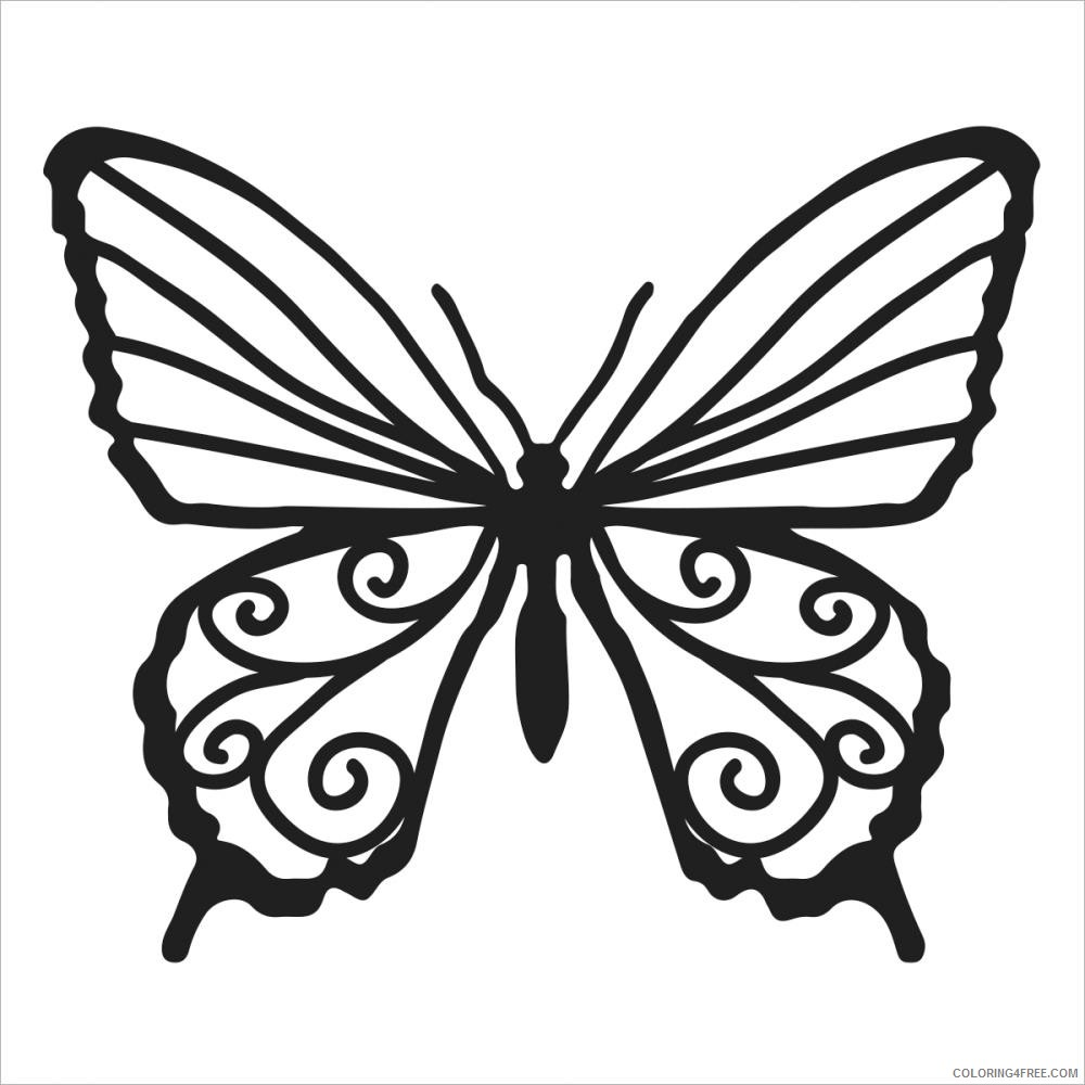 Butterfly Large Coloring Pages tcw butterfly bits 4x4 stencil Printable Coloring4free