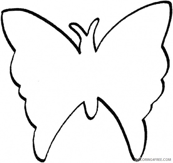 Butterfly Outline Coloring Pages butterfly flying outline Printable Coloring4free