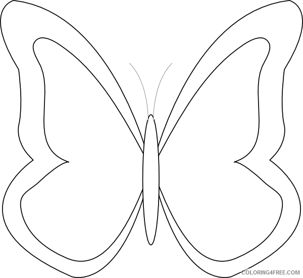 Butterfly Outline Coloring Pages cli butterfly outline patterns butterfly Printable Coloring4free