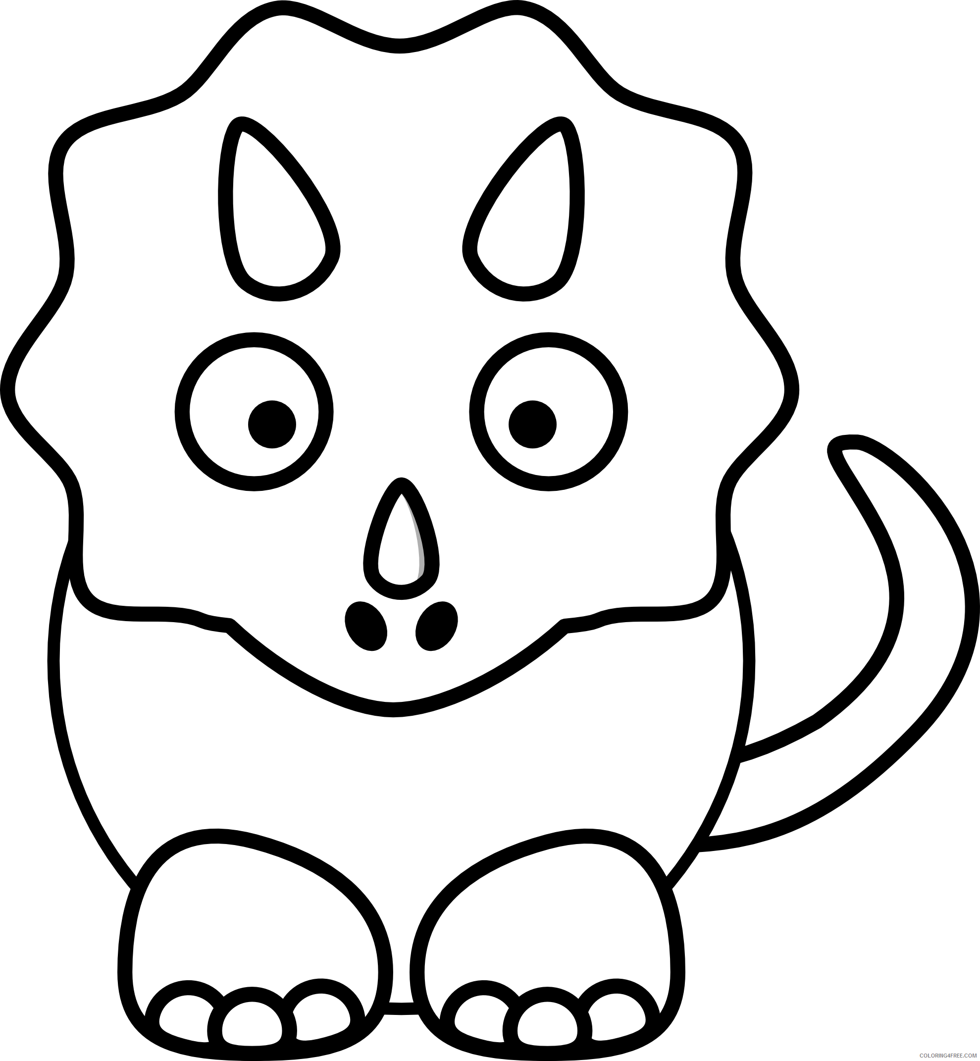 Cartoon Animals Coloring Pages cartoon animals Printable Coloring4free