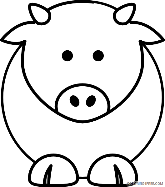 Cartoon Cow Coloring Pages cartoon cow at Printable Coloring4free